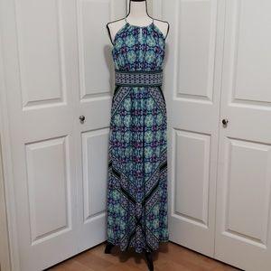 Roz and ALI Multicolor Maxi Dress sz 10